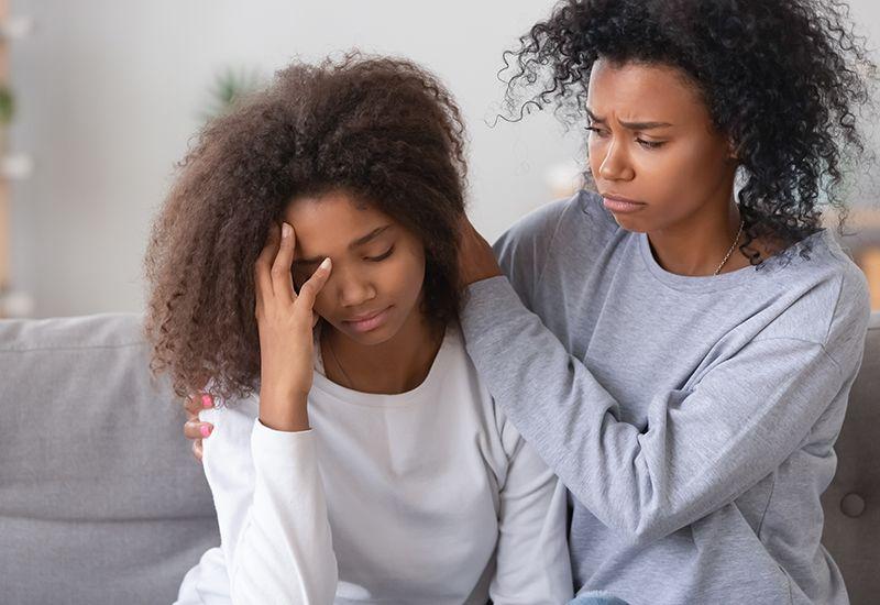 STILL OPP: En god venn stiller opp hvis du har mistanke om spiseforstyrrelser.