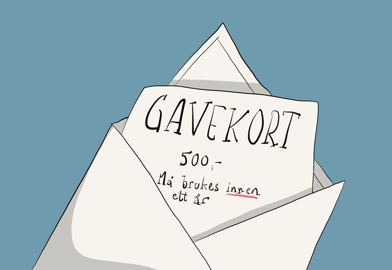 HUSK: På dei aller fleste gåvekorta er det ein utløpsdato. Husk å bruke kortet ditt før det er for seint.