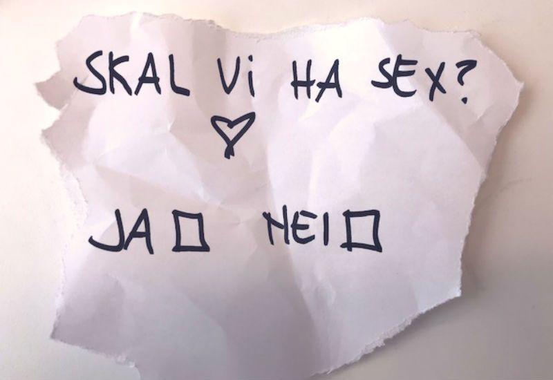 Skal vi ha sex? Ja eller nei?