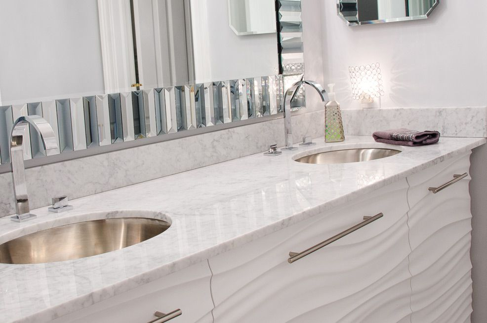 Custom Modern White Bathroom Vanity