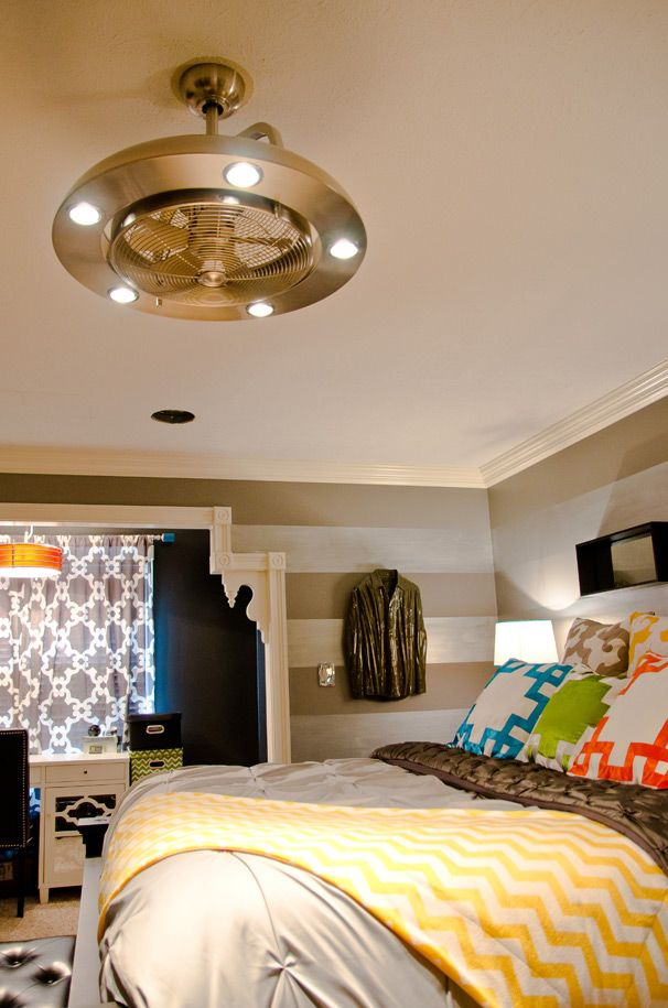 Contemporary Geometric Bedding & Modern Fan