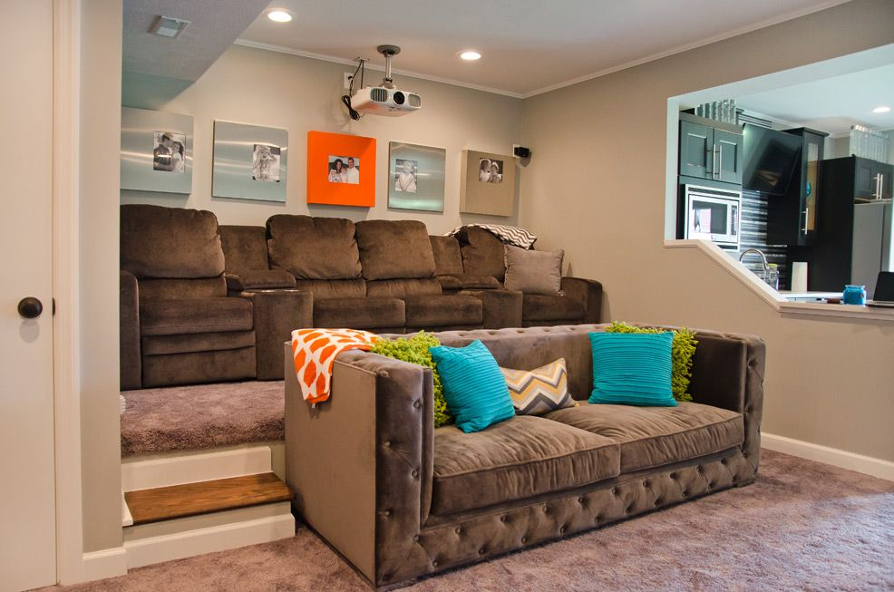 Modern Man Cave Sofa