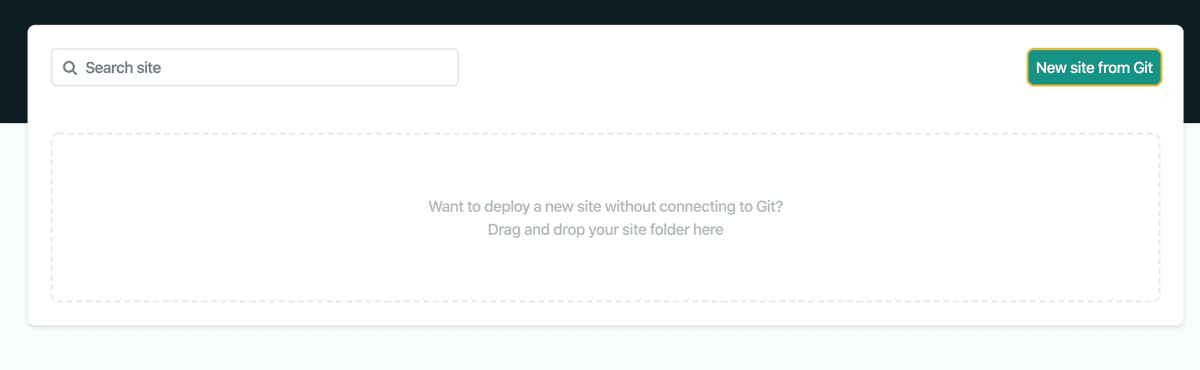 Create new site from Git - What is netlify - Kodex