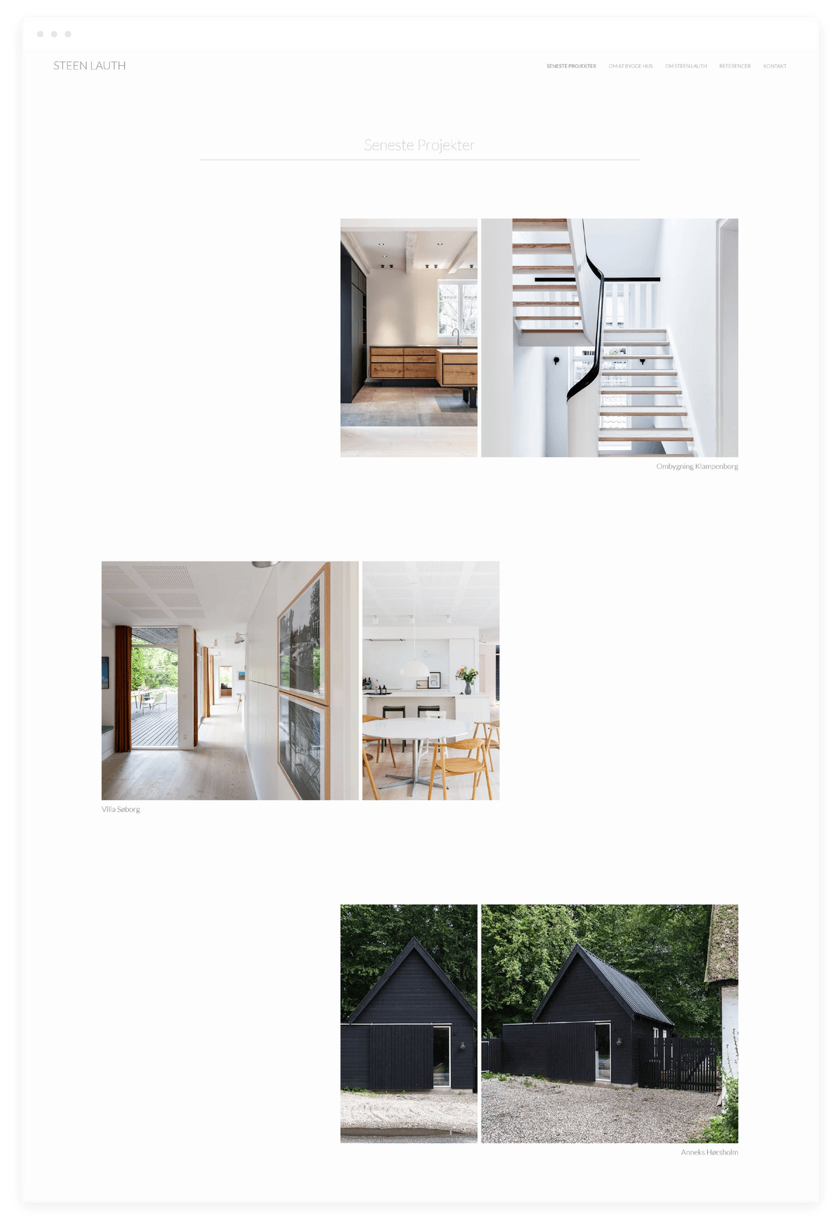 Steen Lauth seneste projekter