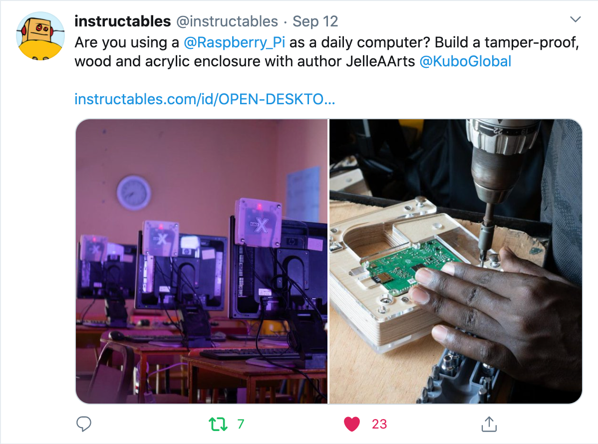 Our KUBO X casing is featured on Instructables!