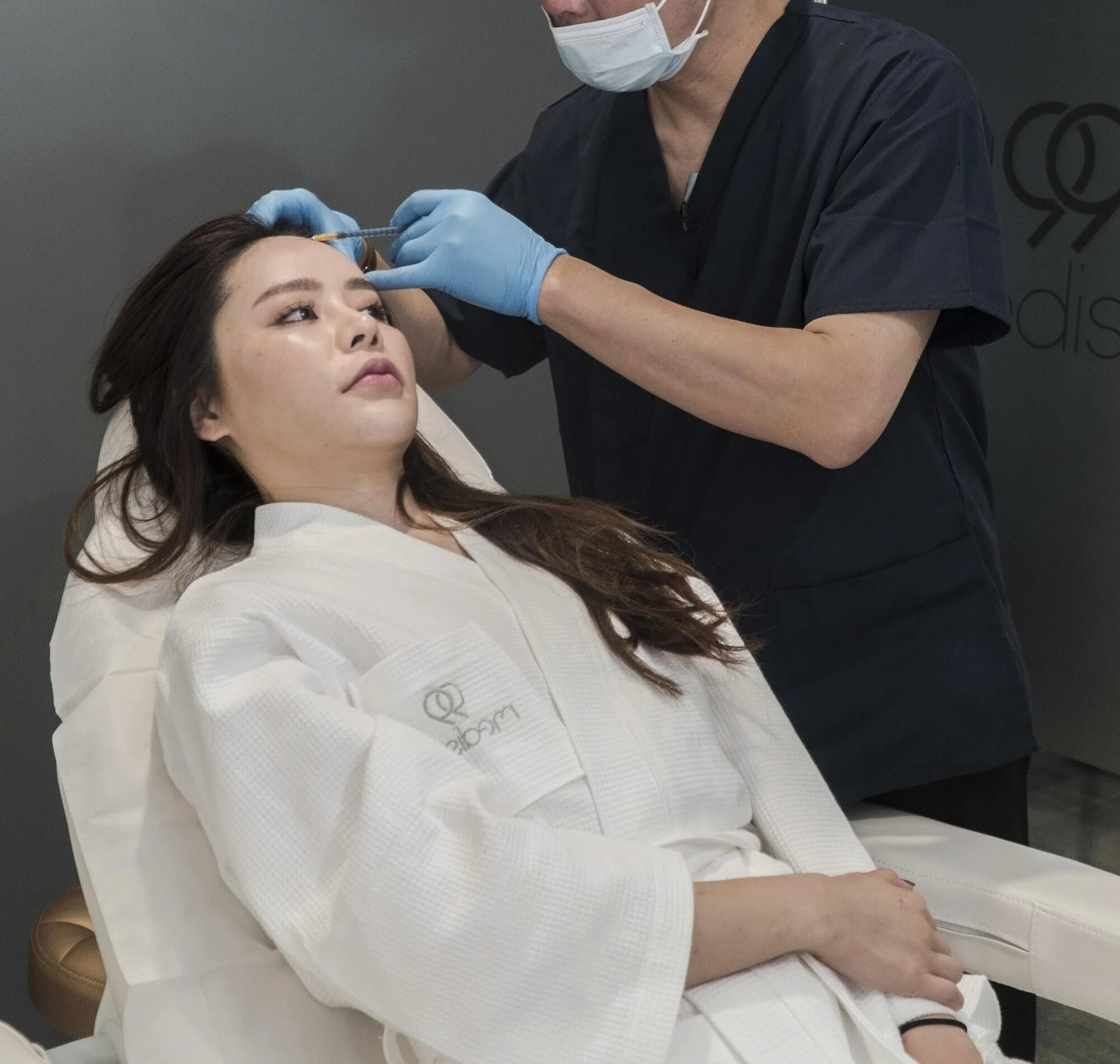 99 Medispa client receiving cosmetic injection treatment