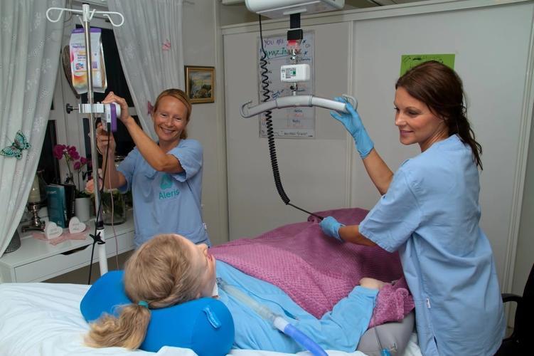 Respiratorteam fra Stendi i aksjon.