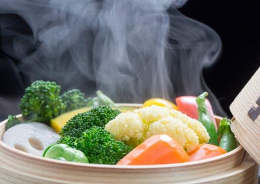 Dämpfen fördert eine gesunde Ernährung