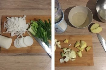 Das Gemüse vorbereiten