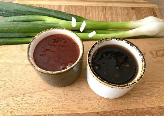 """Süße Chili- & Soja Knoblauch Soße - Wir nennen es """"Ban Ban Huhn""""  mit zwei Saucen"""