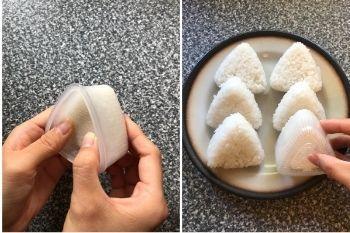 Onigiri mit einer Form herstellen