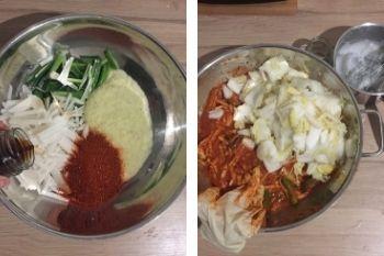 Herstellung der Kimchi Sauce