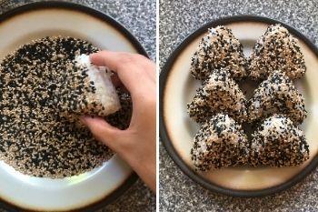 Onigiri mit Sesamsamen