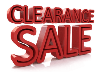 Clearance Sale Items