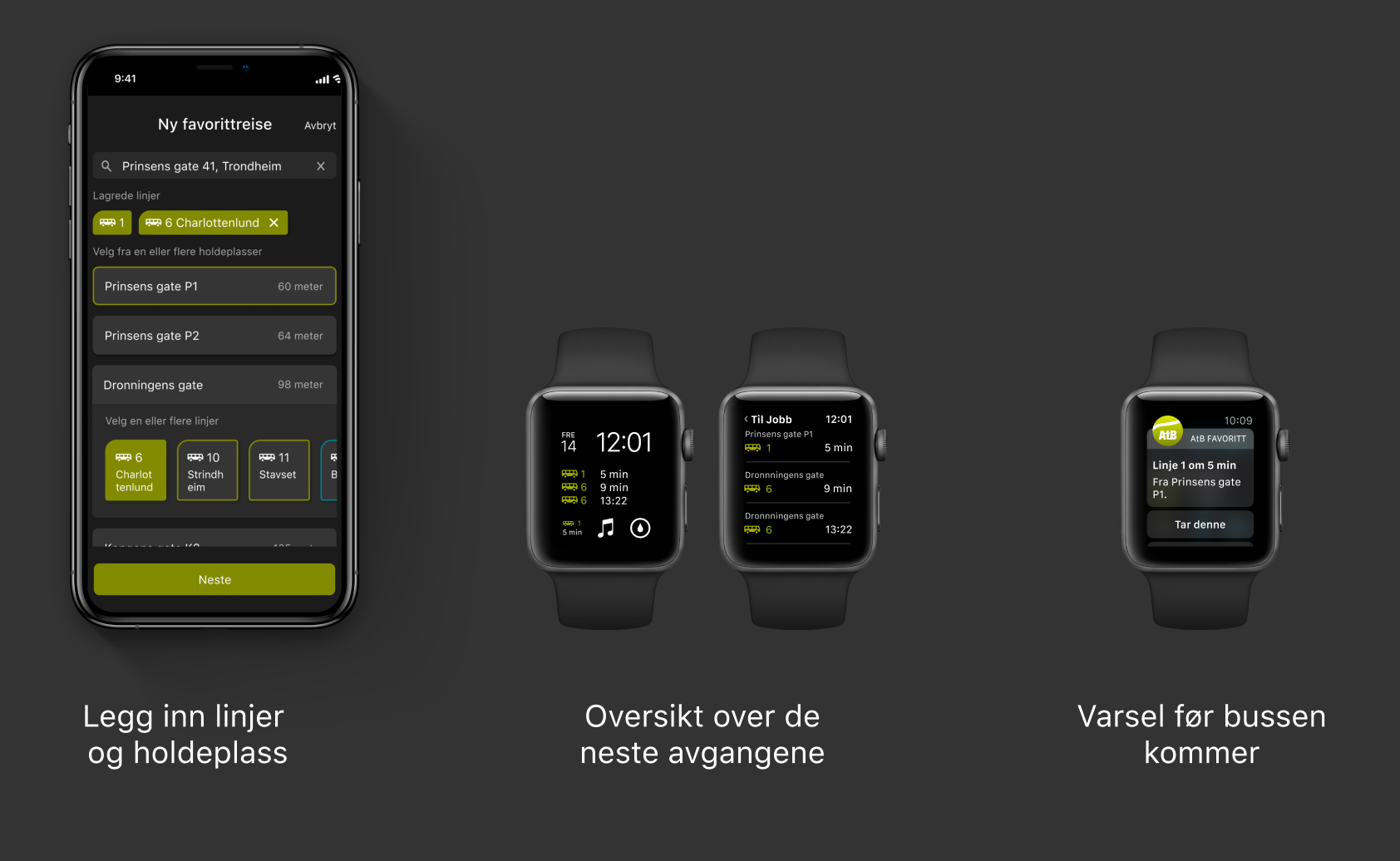 Viser bruk av Apple Watch implementasjon