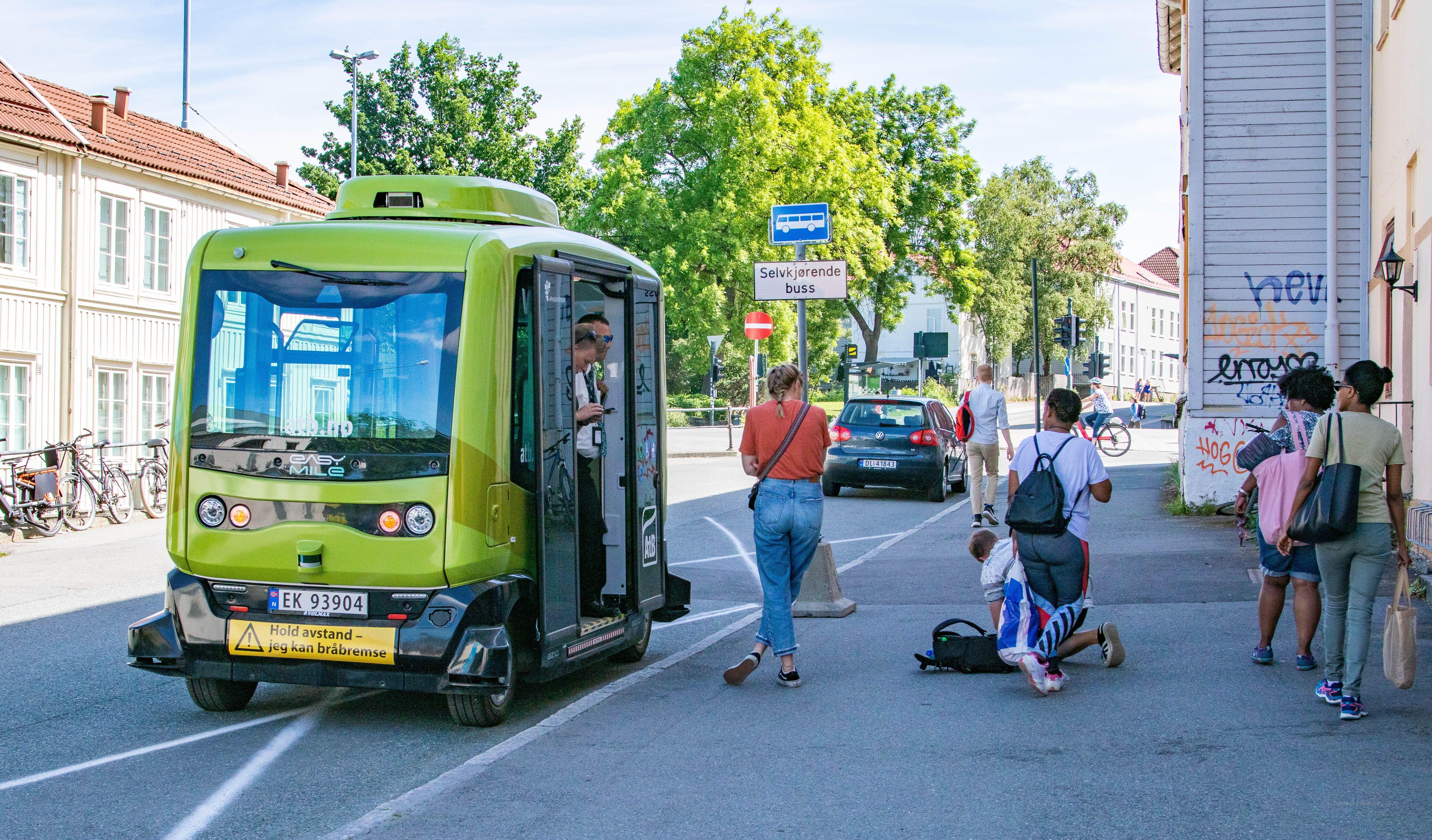 Holdeplass for selvkjørende buss