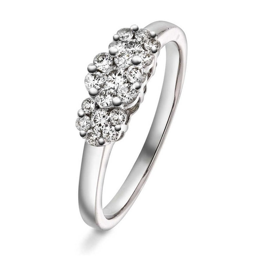 Bilde av Ring, Hvitt Gull m/diamanter