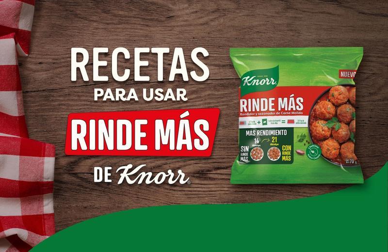 Recetas para Usar Rinde Más de Knorr®