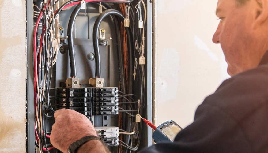 Under the 120% rule, solar + utility power must not exceed 120% of the amperage rating on the main service panel's busbar.