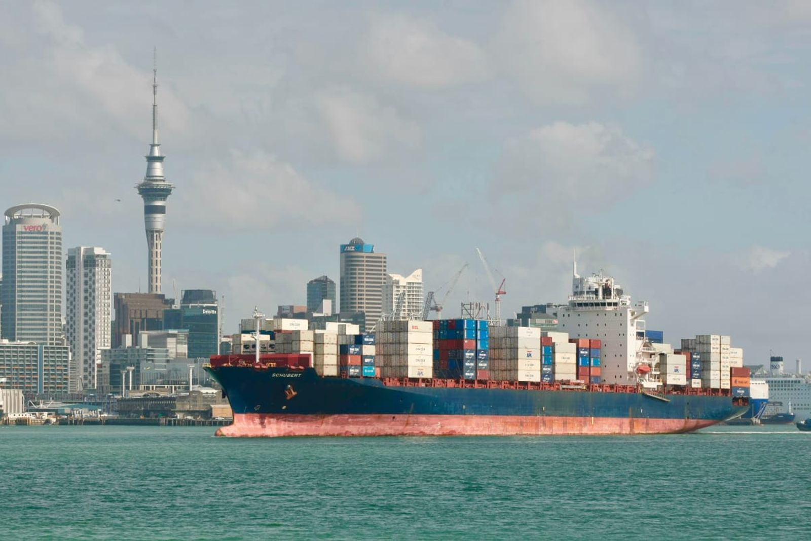 Some container ships are waiting days before being allowed to unload cargo in Auckland.  Photo: John Sefton
