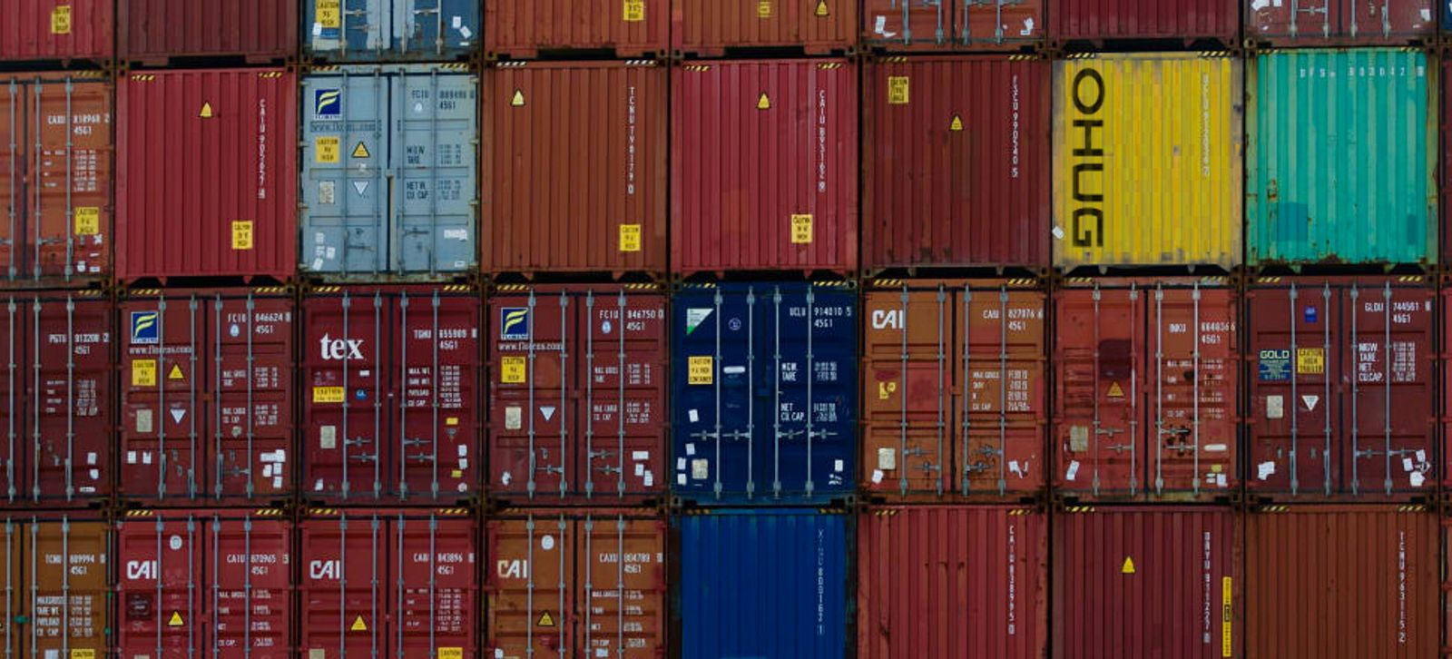 Upwards of 30% of shipping containers move in and out of New Zealand empty. Shipping chaos means they are piling up in yards.  Photo: John Sefton