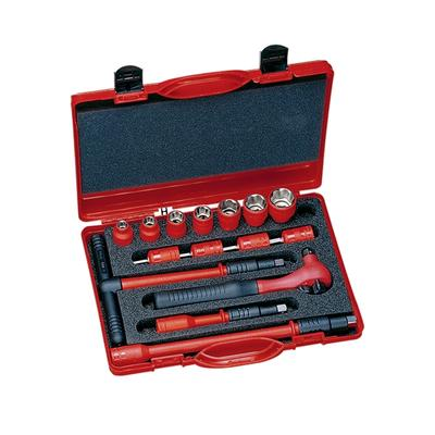 """Insulated Socket Drive Sets - 3/8"""""""