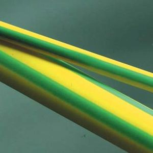 GSHS-1635F  Flexible Polyolefin Heatshrink Tubing - Green/Yellow