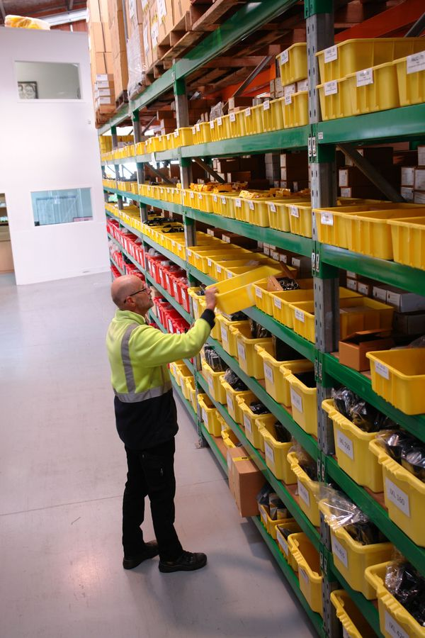 Warehouse with OHUG products