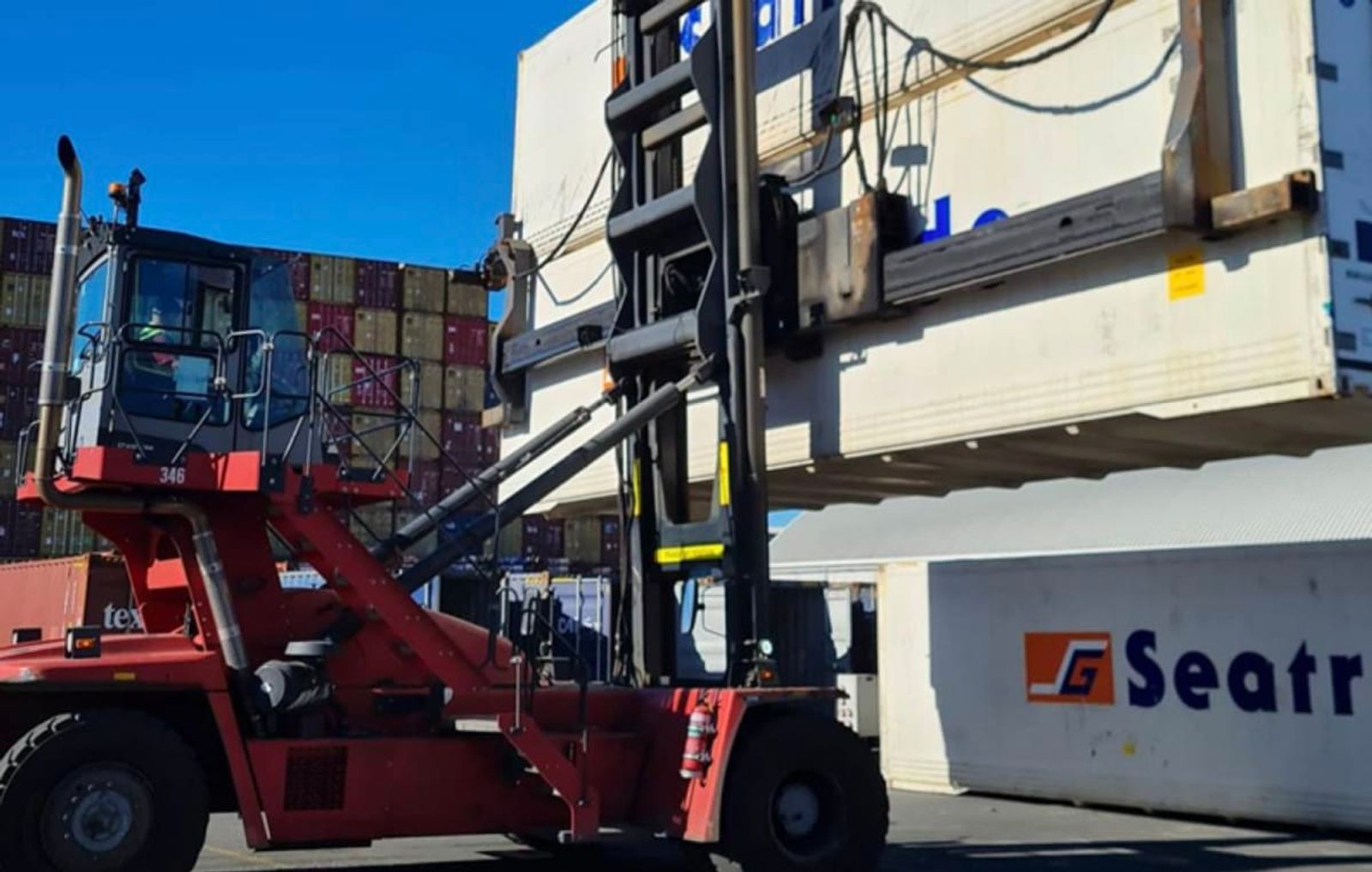 Container yards operate best at 80 percent capacity. Some of ContainerCo's are at 130 percent.  Photo: Supplied to Newsroom