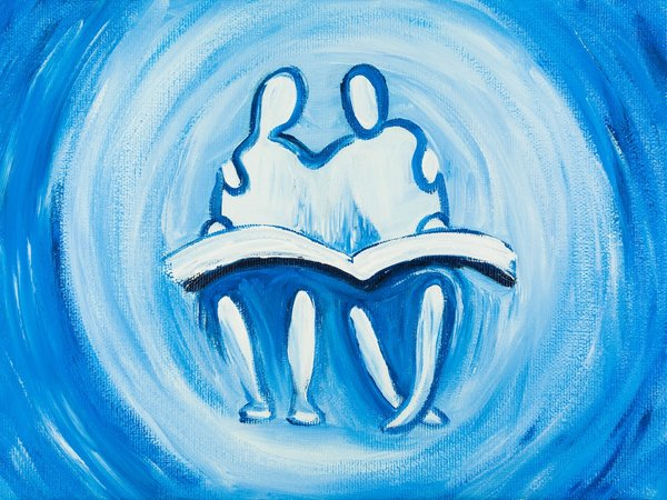 Two in the Scripture   Art Lasovsky