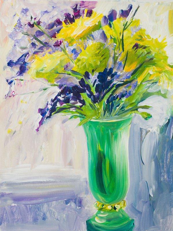 Green vase   Art Lasovsky
