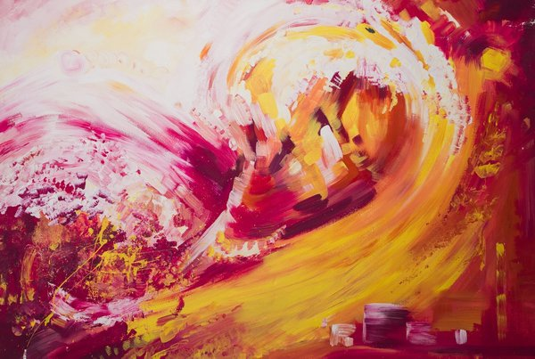 Orange Abstraction   Art Lasovsky