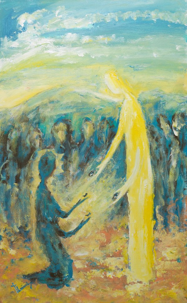 Jesus Heals a Blind Beggar | Art Lasovsky