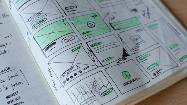 wireframe sketches
