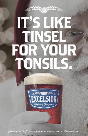 Its like tinsel for your tonsils