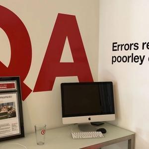 quality assurance station at Yamamoto