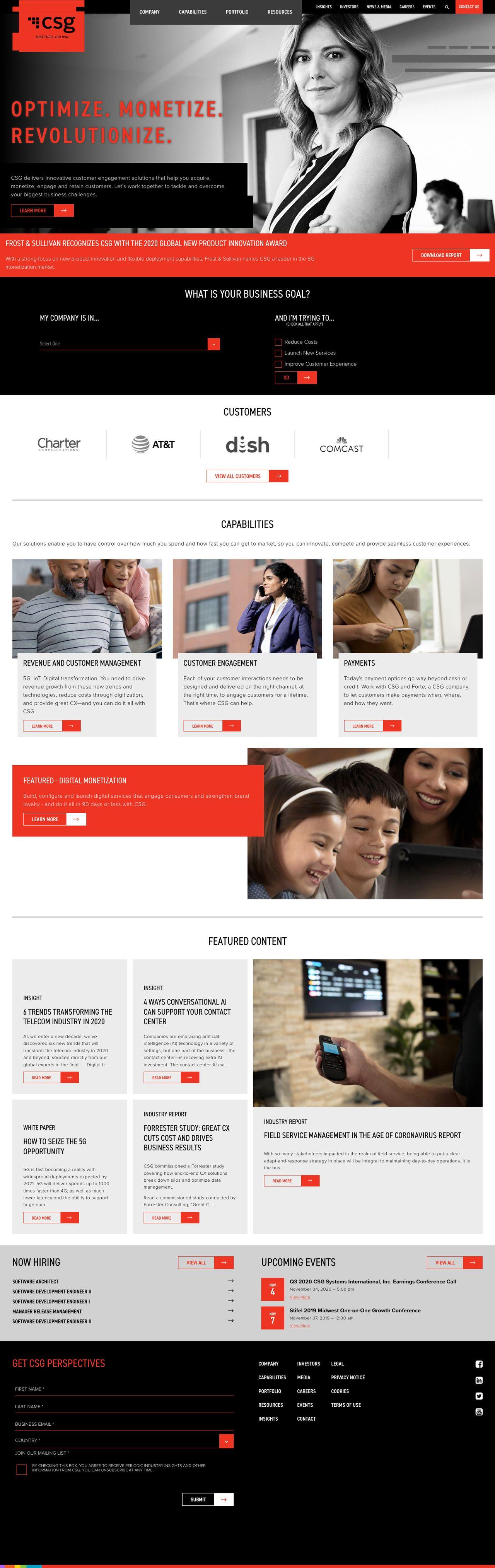 CSG homepage