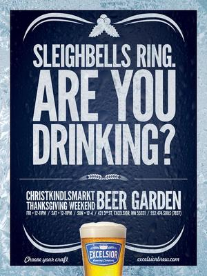 Sleighbells Ring. Are you drinking?