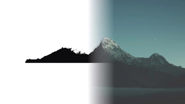 Start of mountain logo design work