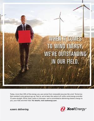 Xcel Clean Energy Print Ad