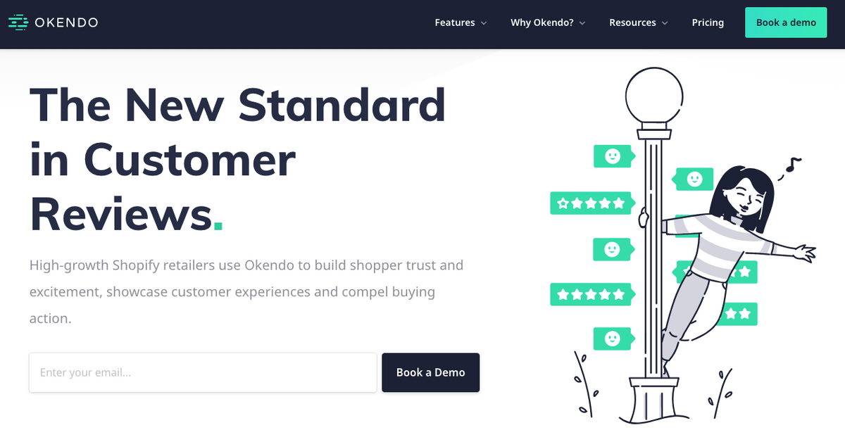 Okendo homepage design