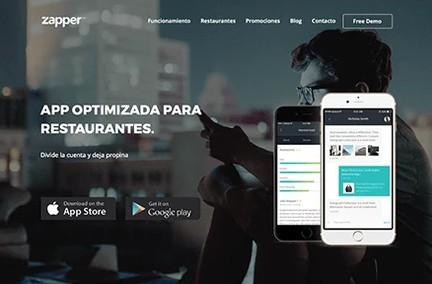 Zapper Landing Page Design
