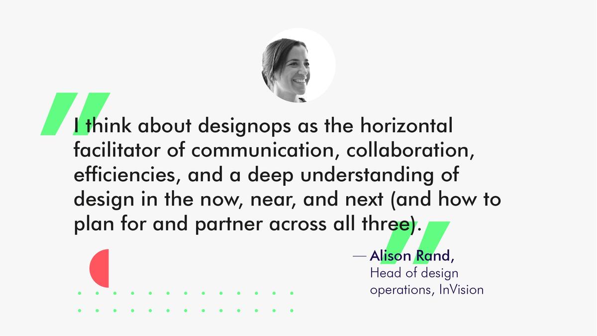 Alison Rand, InVision, DesignOps quote
