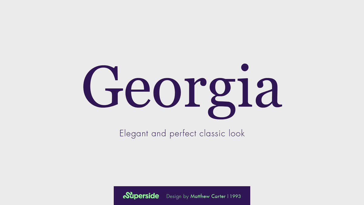 Georgia font for PowerPoint presenations