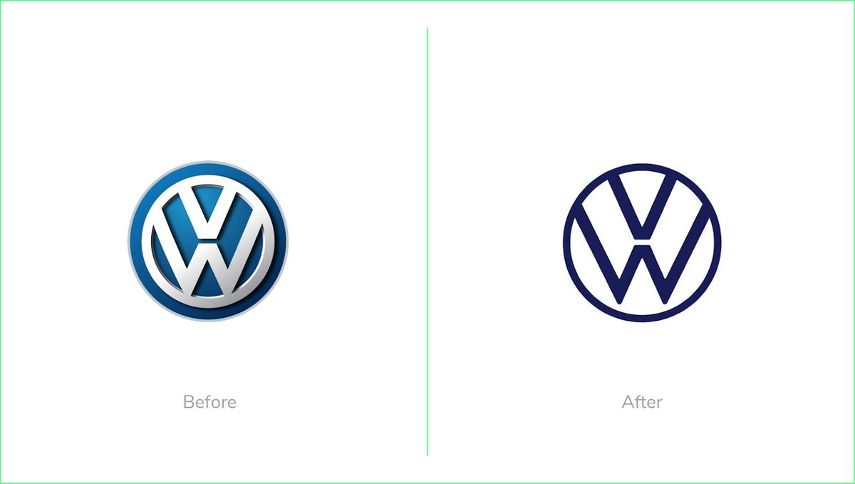 Volkswagen logo redesign 2019 rebrand