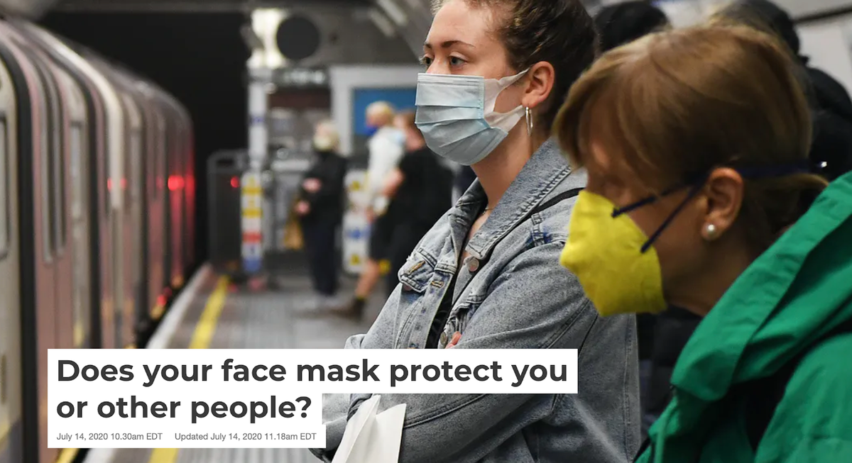 Face mask clickbait example