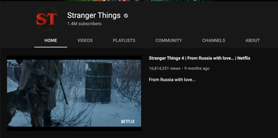 Stranger Things YouTube logo