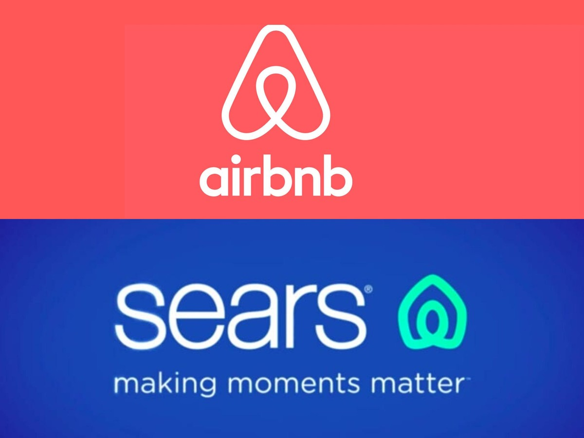 Sears and Airbnb logos 2019
