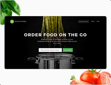 Online Catering Web Design