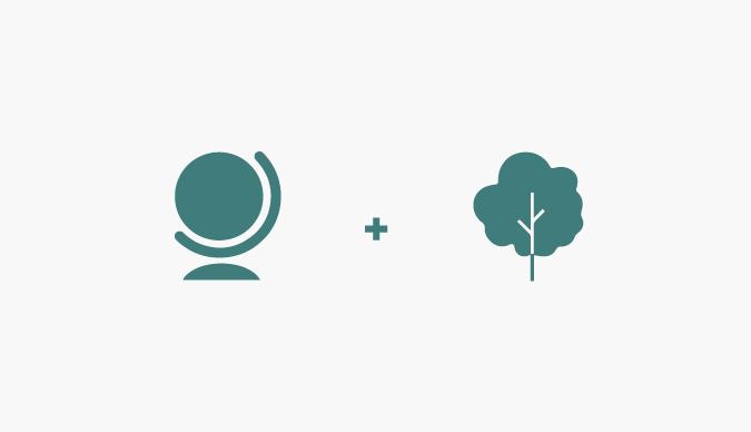 One Green Planet logo design inspiration